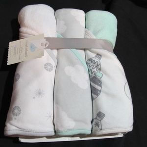 Newborn Cloud Island Hooded Bath Towels Baby Gift